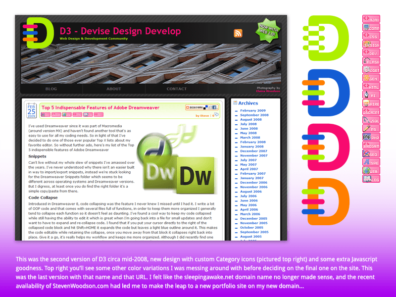 Montage image of the second version of D3 - Devise Design Develop